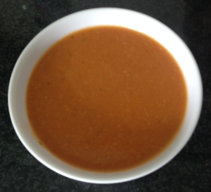 Delisious smoky, sweet spicy citrusy soup.